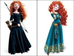 Merida, before and after