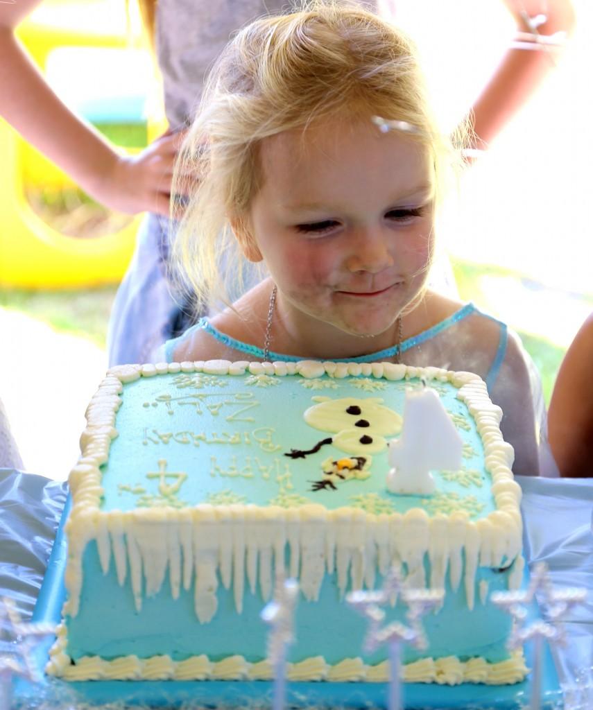 Zali and cake
