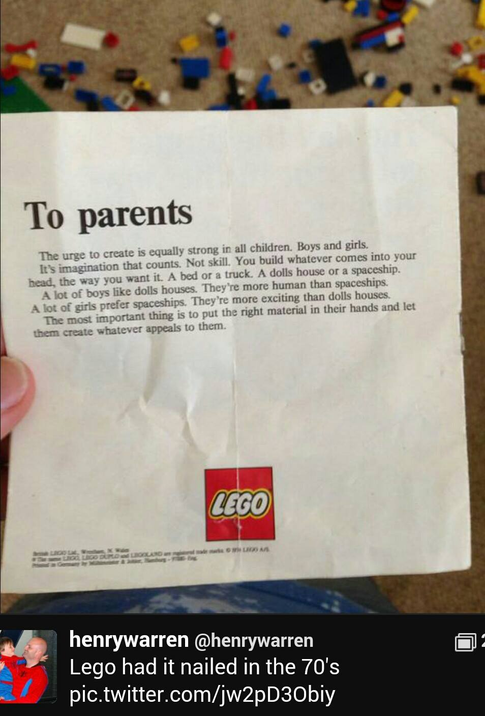 Lego note